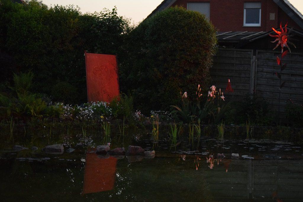 Teich im späten Abend