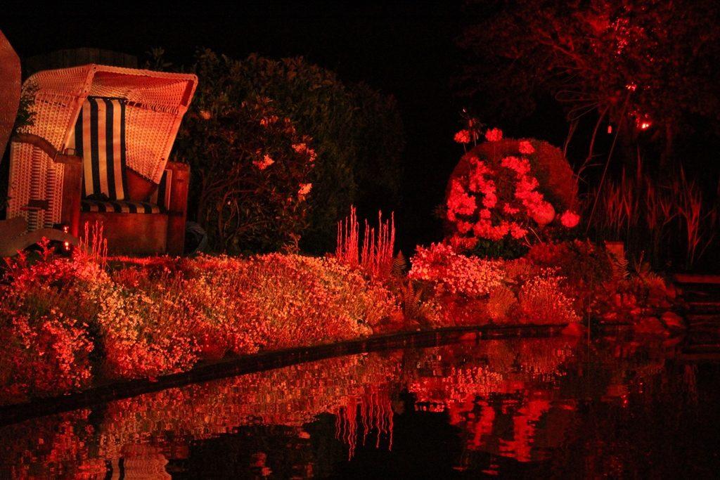 Rote Lichteffekte