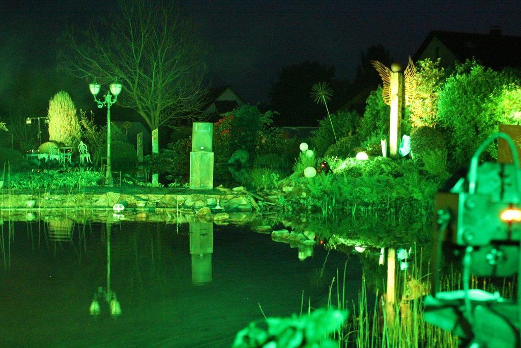 Grüne Lichteffekte
