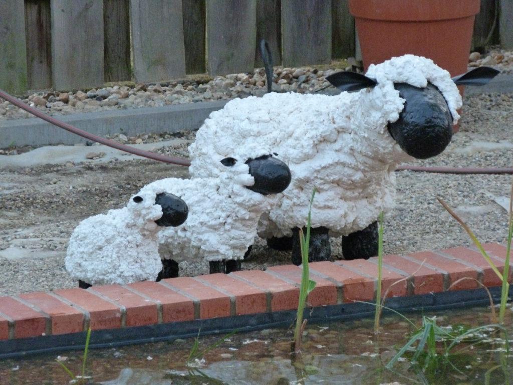 Schafsskulpturen