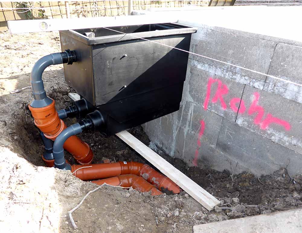 Installation der Pumpe
